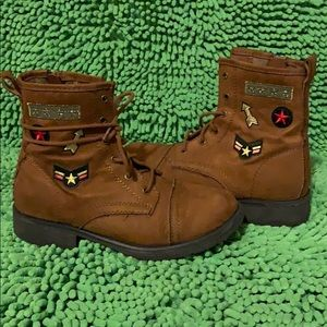 Little girl Brown combat boot 🥾